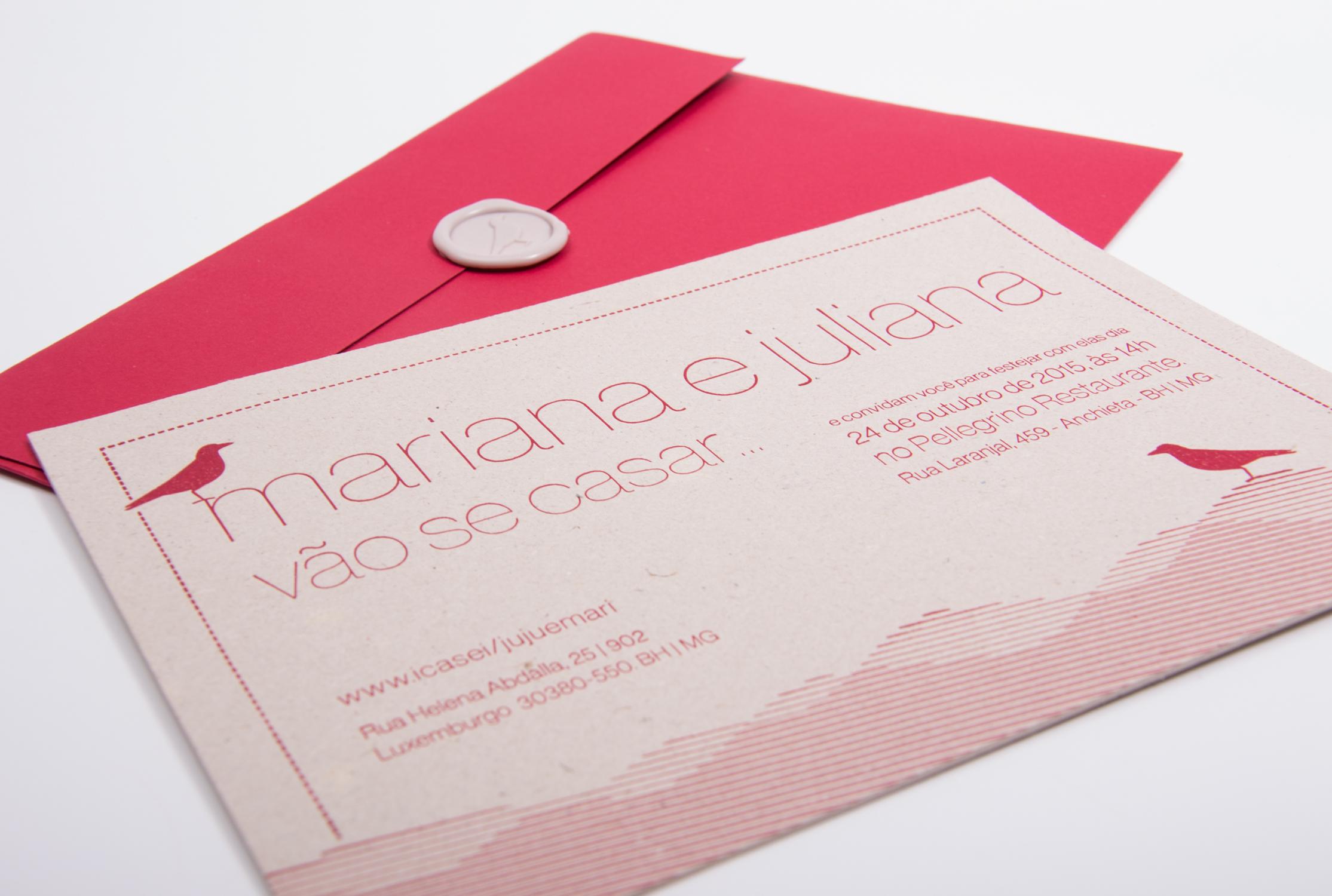 Convite impresso em Letterpress. (Arte: Serifaria | Impressão: Letterpress Brasil)