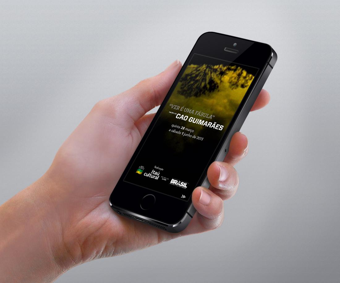 App desenvolvido para o Itaú Cultural para a exposição de Cao Guimarães.