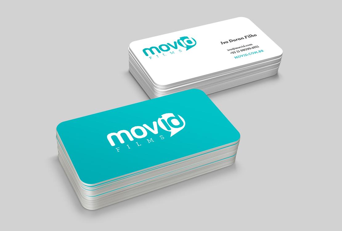 cartão de visita MOVID films